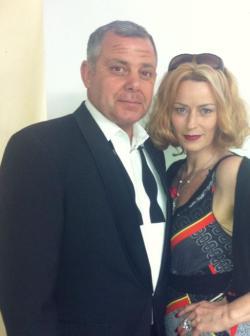Barbara with Sinatra