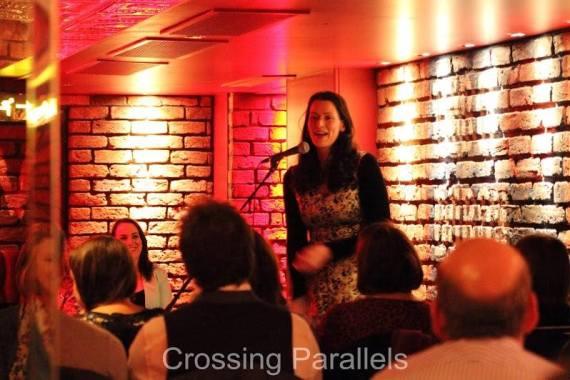 Keara onstage at Cabaret Club