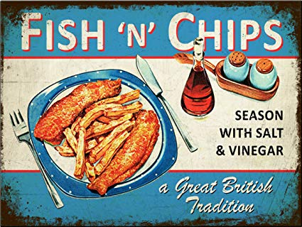 Fish and Chips Vintage advert